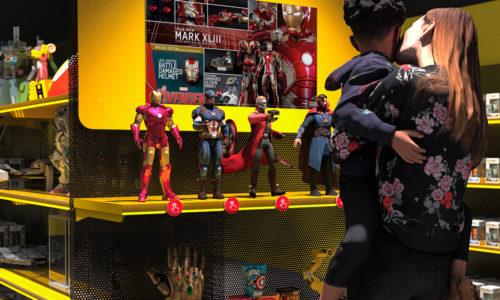 Tête de gondole jouets