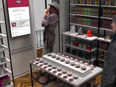 En magasin de thés