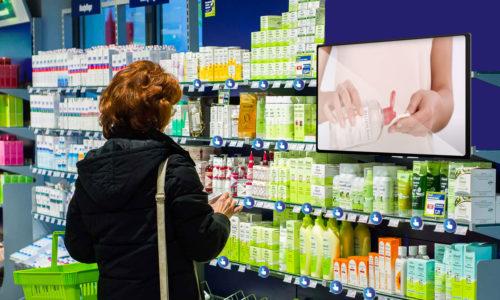 Animation de vente en pharmacie.
